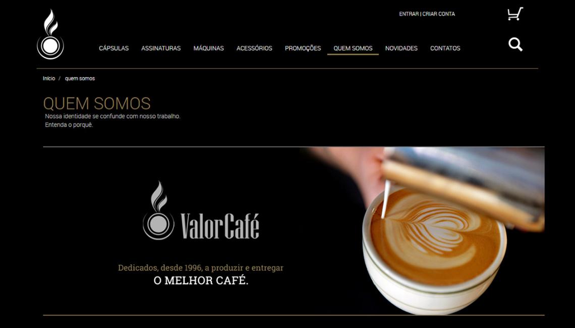 Website ValorCafé